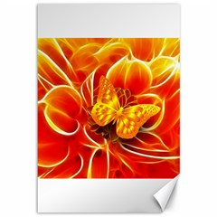 Arrangement Butterfly Aesthetics Orange Background Canvas 12  X 18