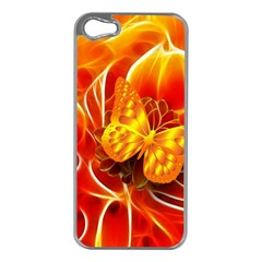 Arrangement Butterfly Aesthetics Orange Background Apple Iphone 5 Case (silver) by Celenk