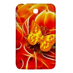 Arrangement Butterfly Aesthetics Orange Background Samsung Galaxy Tab 3 (7 ) P3200 Hardshell Case  by Celenk