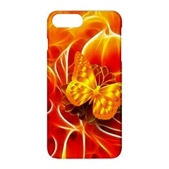 Arrangement Butterfly Aesthetics Orange Background Apple Iphone 8 Plus Hardshell Case by Celenk