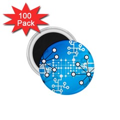 Block Chain Data Records Concept 1 75  Magnets (100 Pack)  by Celenk