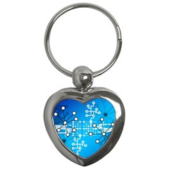Block Chain Data Records Concept Key Chains (heart)