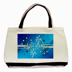 Block Chain Data Records Concept Basic Tote Bag by Celenk