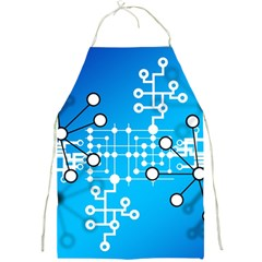 Block Chain Data Records Concept Full Print Aprons by Celenk