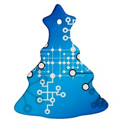 Block Chain Data Records Concept Ornament (christmas Tree)