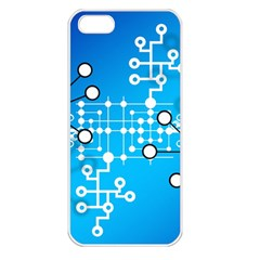 Block Chain Data Records Concept Apple Iphone 5 Seamless Case (white) by Celenk