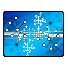 Block Chain Data Records Concept Double Sided Fleece Blanket (small)  by Celenk