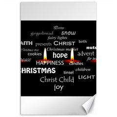 Candles Christmas Advent Light Canvas 24  X 36  by Celenk
