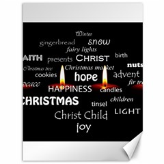 Candles Christmas Advent Light Canvas 36  X 48   by Celenk