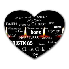 Candles Christmas Advent Light Heart Mousepads by Celenk