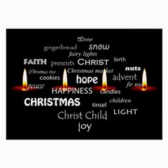 Candles Christmas Advent Light Large Glasses Cloth (2 Side) by Celenk