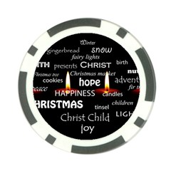Candles Christmas Advent Light Poker Chip Card Guard by Celenk