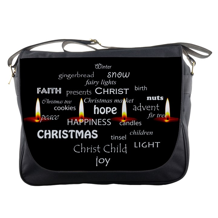Candles Christmas Advent Light Messenger Bags