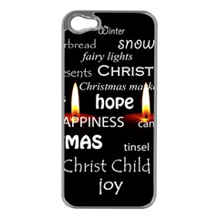 Candles Christmas Advent Light Apple Iphone 5 Case (silver) by Celenk