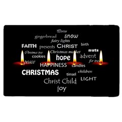 Candles Christmas Advent Light Apple Ipad 2 Flip Case by Celenk