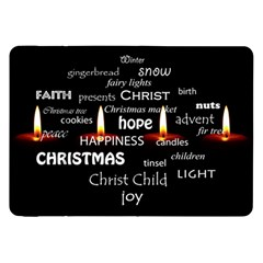 Candles Christmas Advent Light Samsung Galaxy Tab 8 9  P7300 Flip Case by Celenk