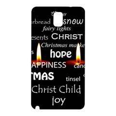 Candles Christmas Advent Light Samsung Galaxy Note 3 N9005 Hardshell Back Case by Celenk