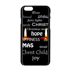 Candles Christmas Advent Light Apple Iphone 6/6s Black Enamel Case