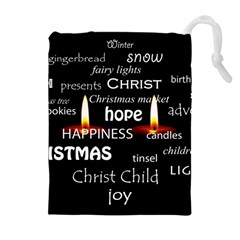 Candles Christmas Advent Light Drawstring Pouches (extra Large)