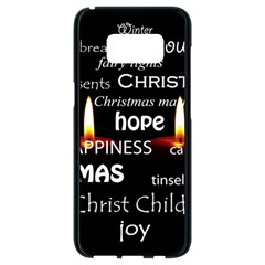 Candles Christmas Advent Light Samsung Galaxy S8 Black Seamless Case