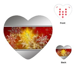 Christmas Candles Christmas Card Playing Cards (heart)  by Celenk