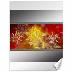 Christmas Candles Christmas Card Canvas 36  X 48   by Celenk