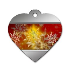 Christmas Candles Christmas Card Dog Tag Heart (one Side) by Celenk