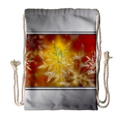 Christmas Candles Christmas Card Drawstring Bag (large)