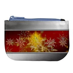 Christmas Candles Christmas Card Large Coin Purse by Celenk