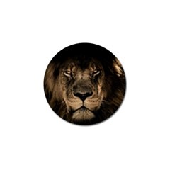 African Lion Mane Close Eyes Golf Ball Marker (10 Pack) by Celenk