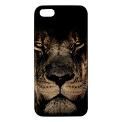 African Lion Mane Close Eyes Iphone 5s/ Se Premium Hardshell Case by Celenk