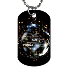 Christmas Star Ball Dog Tag (one Side) by Celenk