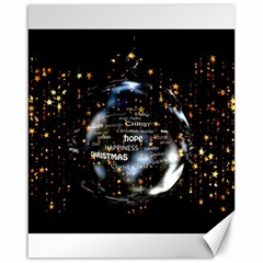 Christmas Star Ball Canvas 16  X 20   by Celenk