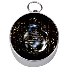Christmas Star Ball Silver Compasses by Celenk
