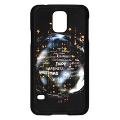 Christmas Star Ball Samsung Galaxy S5 Case (black) by Celenk