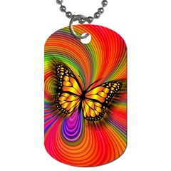 Arrangement Butterfly Aesthetics Dog Tag (two Sides) by Celenk