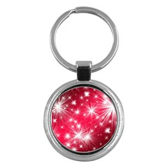 Christmas Star Advent Background Key Chains (round)