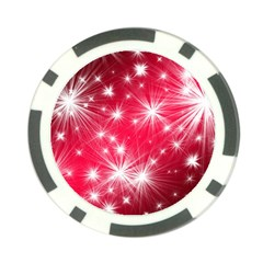 Christmas Star Advent Background Poker Chip Card Guard by Celenk
