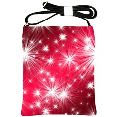 Christmas Star Advent Background Shoulder Sling Bags by Celenk