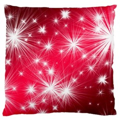 Christmas Star Advent Background Large Cushion Case (one Side) by Celenk