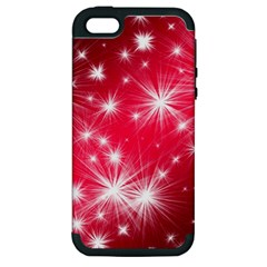 Christmas Star Advent Background Apple Iphone 5 Hardshell Case (pc+silicone)
