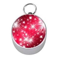 Christmas Star Advent Background Mini Silver Compasses by Celenk