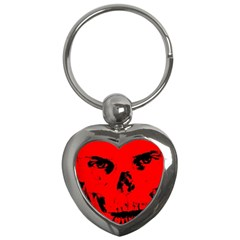 Halloween Face Horror Body Bone Key Chains (heart)  by Celenk