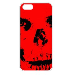 Halloween Face Horror Body Bone Apple Iphone 5 Seamless Case (white) by Celenk