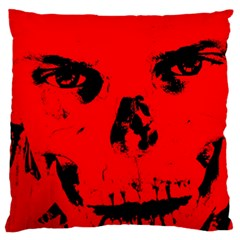 Halloween Face Horror Body Bone Large Flano Cushion Case (one Side) by Celenk