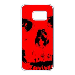 Halloween Face Horror Body Bone Samsung Galaxy S7 White Seamless Case by Celenk
