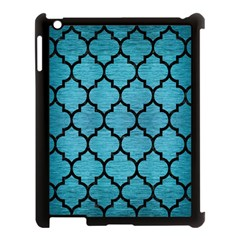 Tile1 Black Marble & Teal Brushed Metal Apple Ipad 3/4 Case (black) by trendistuff