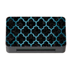 Tile1 Black Marble & Teal Brushed Metal (r) Memory Card Reader With Cf by trendistuff