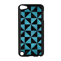 Triangle1 Black Marble & Teal Brushed Metal Apple Ipod Touch 5 Case (black) by trendistuff