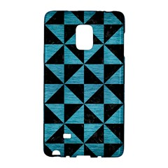 Triangle1 Black Marble & Teal Brushed Metal Galaxy Note Edge by trendistuff